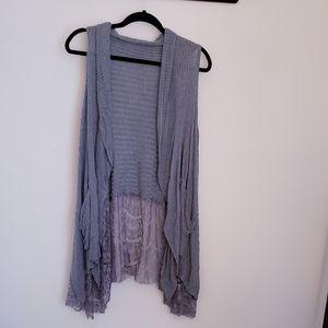 Lacy gray cardigan